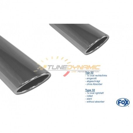 Silencieux arrière duplex inox 1x115x85mm type 32 pour OPEL ASTRA J GTC