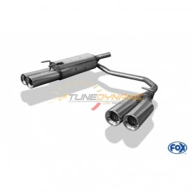 Silencieux arrière duplex inox 2x90mm type 13 pour OPEL TIGRA A