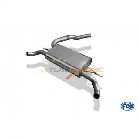 Silencieux arrière duplex inox 1x50mm type 10 pour RENAULT CLIO IV RS