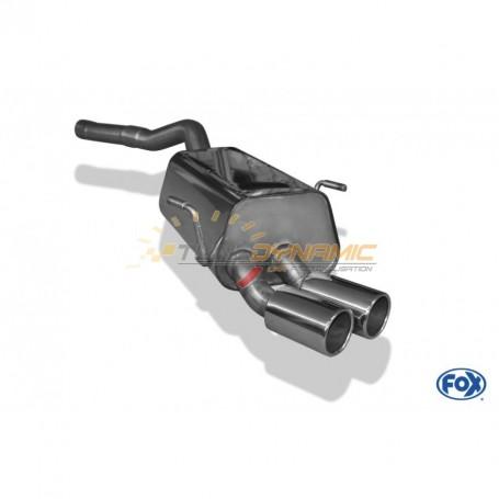 Silencieux arrière inox 2x80mm type 12 pour RENAULT ESPACE III