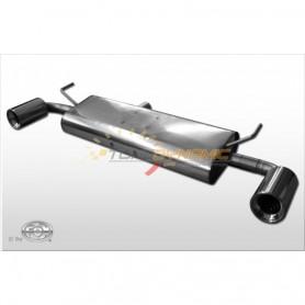 Silencieux arrière duplex inox 1x100mm type 17 pour RENAULT KOLEOS