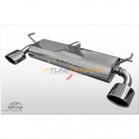 Silencieux arrière duplex inox 1x140x90mm type 44 pour RENAULT KOLEOS