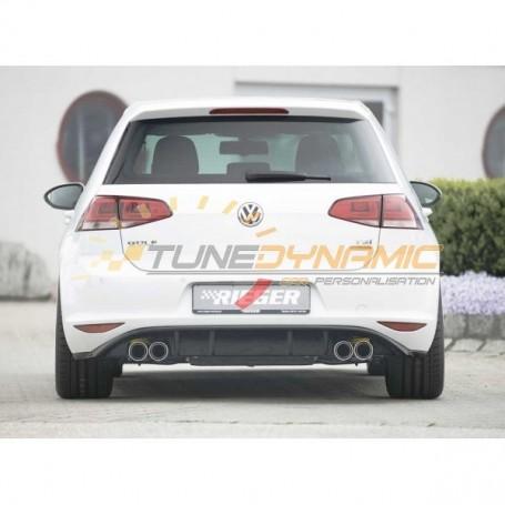 Diffuseur de pare-chocs arrière noir brillant Rieger pour Volkswagen Golf 7 GTI/GTD