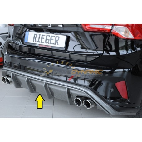 Rieger carbon-look rear bumper diffuser for FORD FOCUS MK4 ST / ST-LINE