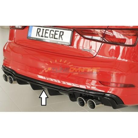 Diffuseur de pare-chocs arrière noir brillant Rieger pour AUDI A3 TYPE 8V BERLINE/CABRIOLET
