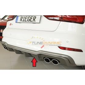 Diffuseur de pare-chocs arrière carbon-look Rieger pour AUDI S3 TYPE 8V BERLINE/CABRIOLET