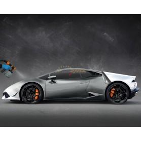 Bas de caisse droit look carbon avec avec prise d'air pour Seat Leon 5F 3 portes