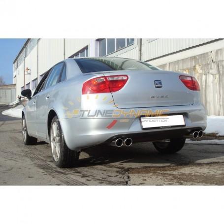 Silencieux arrière duplex inox 2x76mm type 16 pour SEAT EXEO TYPE 3R