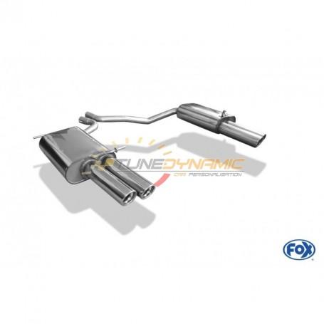 Silencieux arrière duplex inox 2x76mm type 17 pour SEAT EXEO TYPE 3R