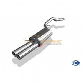 Silent stainless steel rear 2x80mm type 13 for VOLKSWAGEN T5/T6 4-MOTION