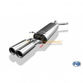 Silencieux arrière inox 2x76mm type 13 pour SEAT TOLEDO TYPE 1M