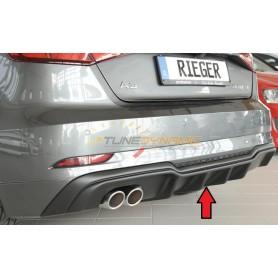 Diffuseur de pare-chocs arrière noir Rieger pour AUDI A3 TYPE 8V 3 PORTES/SPORTBACK
