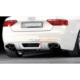 Diffuseur de pare-chocs arrière noir Rieger pour AUDI A5/S5 TYPE B8/B81
