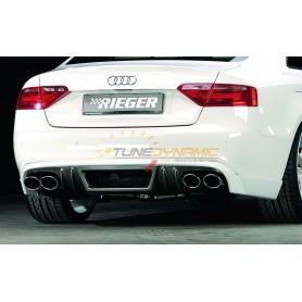 Diffuseur de pare-chocs arrière carbon-look Rieger pour AUDI A5/S5 TYPE B8/B81