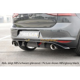 Diffuseur de pare-chocs arrière carbon-look Rieger pour Volkswagen Golf 7 GTI