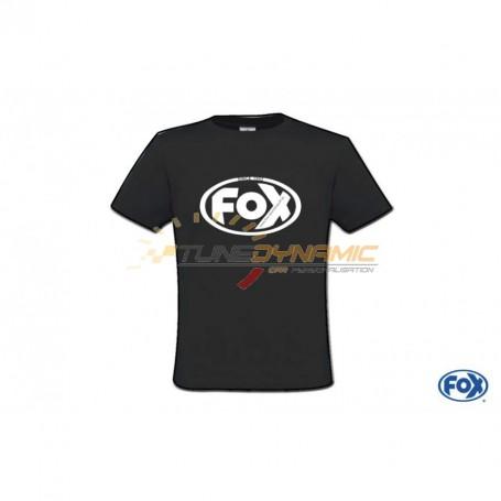 "Black FOX T-shirt with ""25 Years"" white logo"