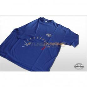 T-Shirt FOX de couleur bleu avec logo gris