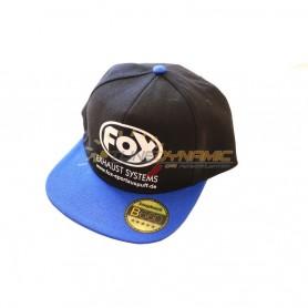 Casquette FOX de couleur noire/bleu avec logo blanc