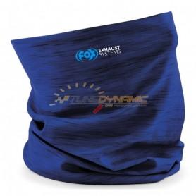 Cache cou/cache nez FOX de couleur bleu avec logo bleu/blanc