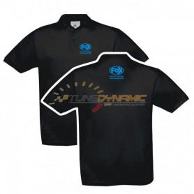 Polo FOX de couleur noire avec logo bleu