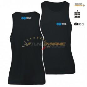 T-Shirt sans manches FOX de couleur noire avec logo bleu/blanc