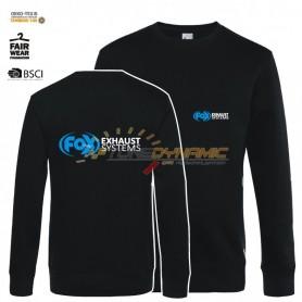 Pullover FOX de couleur noire avec logo bleu/blanc