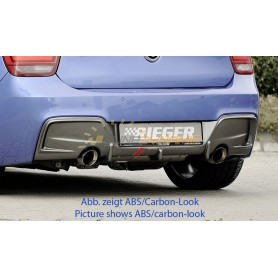 Rieger black rear bumper diffuser for BMW SERIE 1 TYPE F20/21