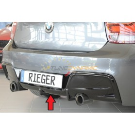 Rieger shiny black rear bumper diffuser for BMW SERIE 1 TYPE F20/21