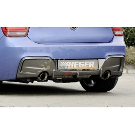 Rieger carbon-look rear bumper diffuser for BMW SERIE 1 TYPE F20/21