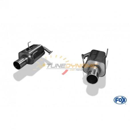 Silencieux arrière duplex inox 1x114mm type 12 pour SUBARU FORESTER TYPE SJ