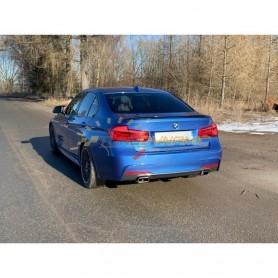 Silencieux arrière duplex inox 1x145x65mm type 59 avec valves pour BMW 330i XDRIVE TYPE F30/31