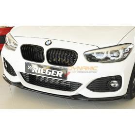 Lame de pare-chocs avant Rieger noire brillante pour BMW SÉRIE 1 F20/21 LCI