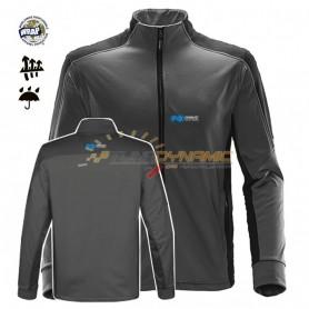 Veste polaire FOX de couleur noire/grise avec logo bleu/blanc