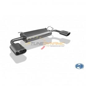 Silencieux arrière duplex inox 1x160x80mm type 52 pour SUZUKI GRAND VITARA TYPE JT