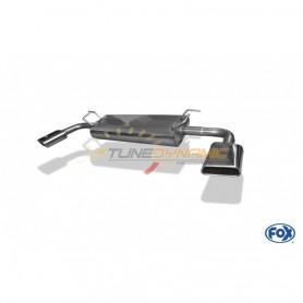 Silencieux arrière duplex inox 1x145x65mm type 59 pour SUZUKI GRAND VITARA TYPE JT