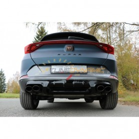 Complete catback with duplex rear silencer (with 2 electronic valves) stainless 2x106x71mm type 32 for CUPRA FORMENTOR 4x4