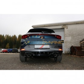 Complete catback with duplex rear silencer (with 2 electronic valves) stainless 2x100mm type 25 for CUPRA FORMENTOR 4x4