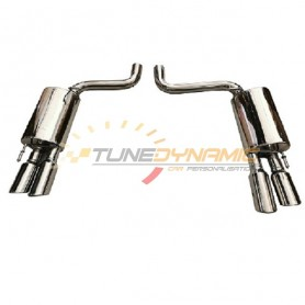 Silent rear duplex stainless steel with double output for JAGUAR XF-R 5.0L