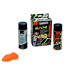 Pack Spray Film NEON 2 pcs pour jantes orange fluo