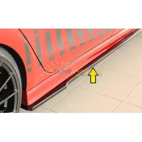 copy of Rieger shiny black front bumper blade for SEAT IBIZA TYPE KJ