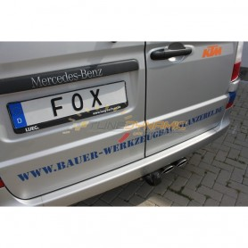copy of Silent rear duplex stainless steel 2x115x85mm type 32 for MERCEDES VITO TYPE 639