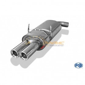 copy of Silent stainless steel rear 2x76mm type 13 for BMW SERIE 3 318is TYPE E36