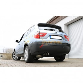 copy of Silent stainless steel rear 2x80mm type 25 for BMW X3 TYPE E83