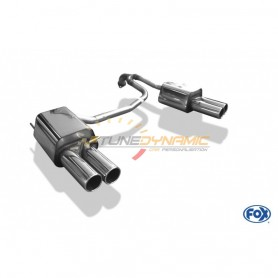 copy of Silent rear duplex stainless steel 2x90mm type 12 for HYUNDAI COUPÉ TYPE GK FACELIFT