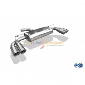 copy of Silent rear duplex stainless steel 2x80mm type 25 for SEAT LEON CUPRA TYPE 5F