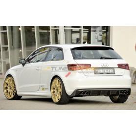 copy of Rieger carbon-look rear bumper diffuser for Audi A3 type 8V