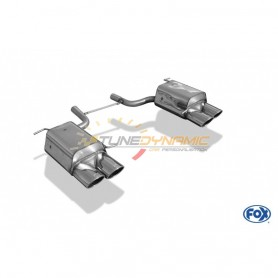 copy of Silent rear duplex stainless steel 2x115x85mm type 32 for MERCEDES SLK TYPE R172