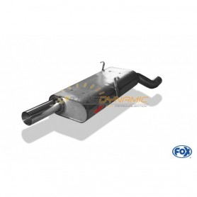 copy of Silent stainless steel rear 1x70mm type 10 for BMW SERIE 3 318is TYPE E30