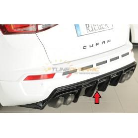 Diffuseur de pare-chocs arrière noir brillant Rieger pour SEAT ATECA CUPRA TYPE 5FP (avec attelage)