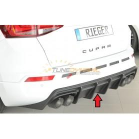 copy of Rieger shiny black rear bumper diffuser for Seat Leon 5F CUPRA
